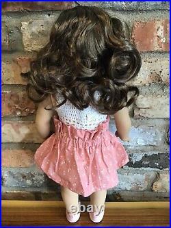 Kylie Custom American Girl Doll OOAK Brown Curly Hair Brown Eyes Tenney