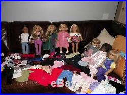 Large Lot American Girl Pleasant Company Dolls, Clothes & Accessories Used