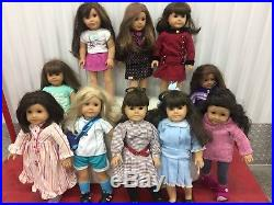 Lot Of 10 American Girl Pleasant Company Dolls Majority Retired