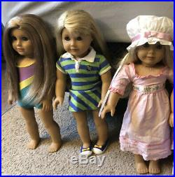 Lot Of 3 American Girl Dolls Mckenna, Lanie, And Caroline