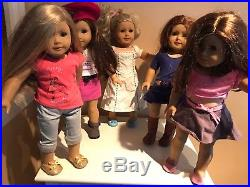 Lot Of 5 American Girl Dolls GOTY Grace Isabelle Saige Elizabeth Play
