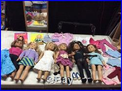 Lot Of 6 American Girl Dolls Plus Accessories
