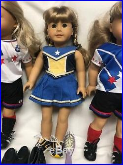 Lot Of American Girl Pleasant Company Dolls, Clothes & Accessories Used