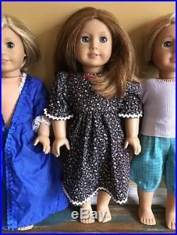 Lot of 4 American Girl Dolls Emily, Julie, Kit &