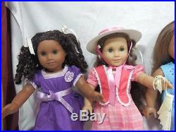 Lot of 4 American Girl Dolls. Kanani, Mary Grace, Lanie, Cecile