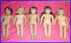Lot of 5 AMERICAN GIRL/PLEASANT COMPANY HISTORICAL DOLLS RETIRED MANY EXTRAS