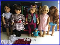 Lot of 5 American Girl Dolls Samantha, Saige, Josephina, Today &