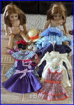 Lot of Two American Girl Dolls plus Clothing/Accessories