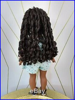 Madison Custom African American Girl Doll OOAK Blue Eyes Sonali Black Curly Hair