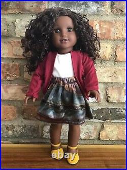 Marin Custom OOAK African American Girl Doll Brown Curly Hair Brown Eyes CYO