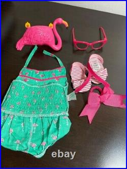 Maryellen's Flamingo Swim Outfit for 18-inch Dolls- All pieced in EUC