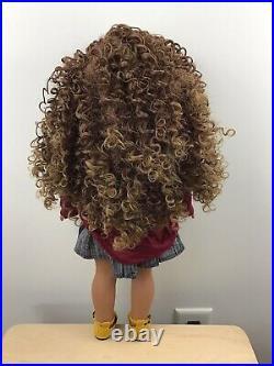 Maya Custom American Girl Doll OOAK Brown Ombre Curly Hair Hazel Eyes JLY 62