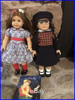 Molly and Emily American Girl Dolls With Accessories