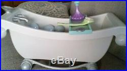 OFFICIAL American Girl Doll Bathtub And Accessories Gently Used