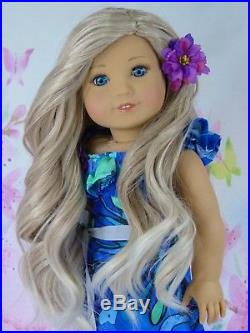 OOAK American Girl 18 Doll Beautifully Custom Blue Eyes Blonde Ombre Hair