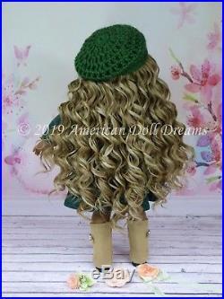 OOAK American Girl 18 Doll Hazel Green Eyes Custom Spiral Ash Blonde Hair