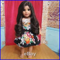 OOAK American Girl Doll Kylie JennerNanea WigAmber Eyes