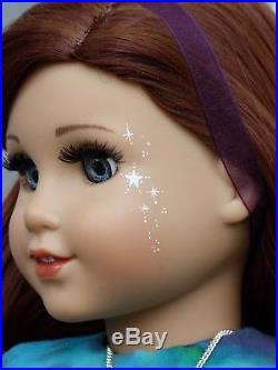 OOAK Moon Princess American Girl 18 Doll Custom Auburn Hair Hand Painted Eyes
