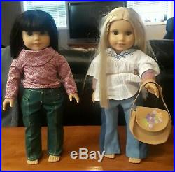Pair of American Girl Dolls Ivy Ling + Julie Albright Best Friends
