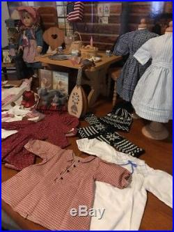 Pleasant Co. /American Girl Kirsten Doll Lot-Background, Furniture, Accessories+Mor