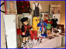 Pleasant Company 18 Molly Doll, Trunk & Huge Collection, American Girl'92-'93