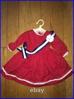 Pleasant Company Addy's Patriotic Red Dress & blue Sash American Girl doll