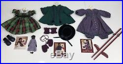 Pleasant Company American Girl Doll Addy Walker, 10 Outfits, Wood Trunk-Original