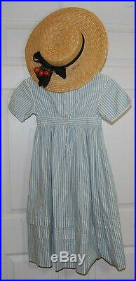 Pleasant Company American Girl Dress Like Your Doll Kirsten's Summer Dress & Hat