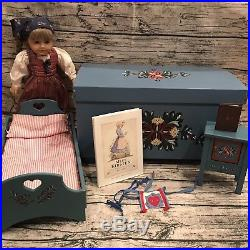 Pleasant Company American Girl Kirsten Doll Trunk Bed Washstand Lot