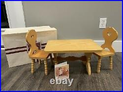Pleasant Company American Girl Kirsten Table And Chairs