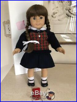 Pleasant Company American Girl White Body Molly Doll In Meet Outfit & Box