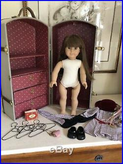 Pleasant Company American Girl White Body Samantha Steamer Trunk LOT