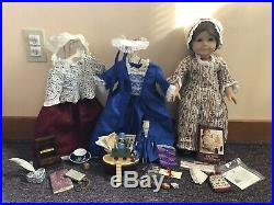 Pleasant Company Felicity American Girl Doll LOT with Dresses and Accessories