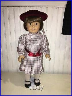Pleasant Company Retired Samantha Doll (stamped) with Outfits & Acc. Gently Used