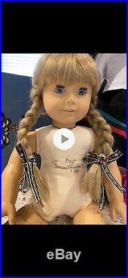 Pleasant Company Signed Kirsten #1207- American Girl dolls, Trunk, 1987, COA