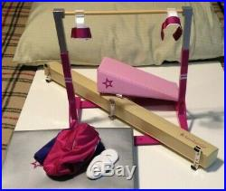 Preowned American Girl Doll Gymnastic Set Everything in photo