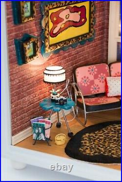 RARE American Girl AG Mini COMPLETE Loft Apartment WORKING includes Spinning Fan