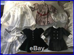 RARE SET SAMANTHA American Girl Doll, Bed, Button & Five Dress Outfits