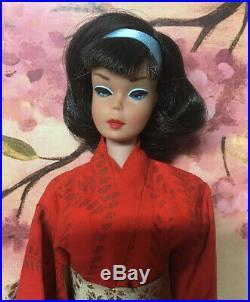 (RESERVED 8/14) Vintage American Girl Brunette Japanese Side Part Barbie Doll