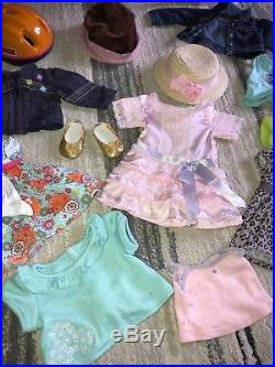 RETIRED 2011 American Girl McKenna loft bed & desk With Clothing Lot