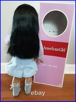 Rare American Girl Doll JLY 4 Black Hair Just Like You #4 Asian Excellent