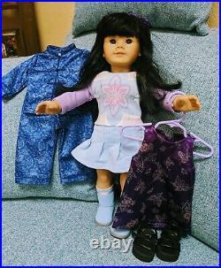 Retired American Girl Asian JLY #4 Chinese & Original Dress LOT