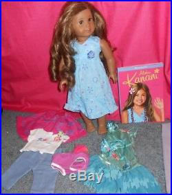 Retired American Girl Doll KANANI IN MEET DRESS PLUS EXTRA AG CLOTHES