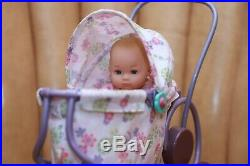 Retired American Girl doll Felicity Baby Polly & Stroller Bunny Rabbit Complete
