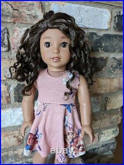 Tessa Custom American Girl Doll Dark Brown Curly Hair Brown Eyes Nanea