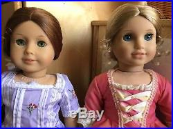 Two American Girl Dolls Felicity and Elizabeth Lot