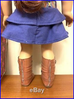 Used American Girl Doll Saige In Original Outfit, Earrings With Original Box