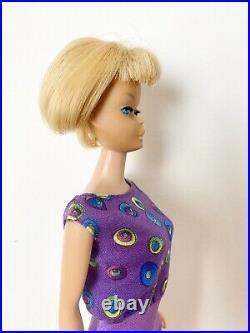 VINTAGE BARBIE 1966 AMERICAN GIRL BLONDE HAIR DOLL #1070 Bend Leg