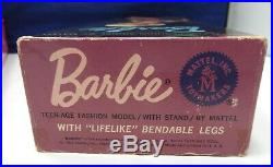 VINTAGE BARBIE RARE SWIRL on AMERICAN GIRL BEND LEG DOLL BODY BLONDE 1070 with BOX
