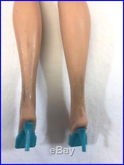 Vintage 1958 Barbie American Girl Bend Leg Barbie Doll Ash Blonde